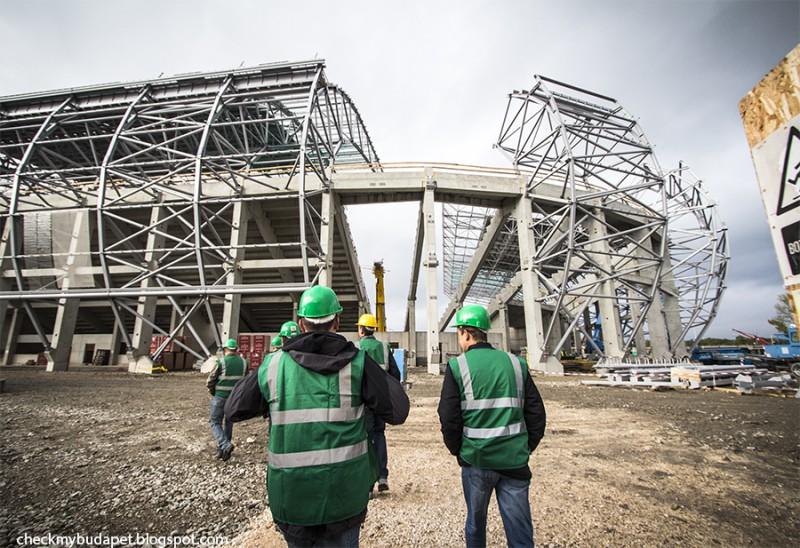 Új Fradi Stadion – építkezés